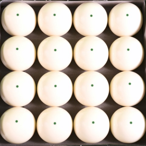Box of 16 - Green Dot Pool Cue Training - Practice Balls
